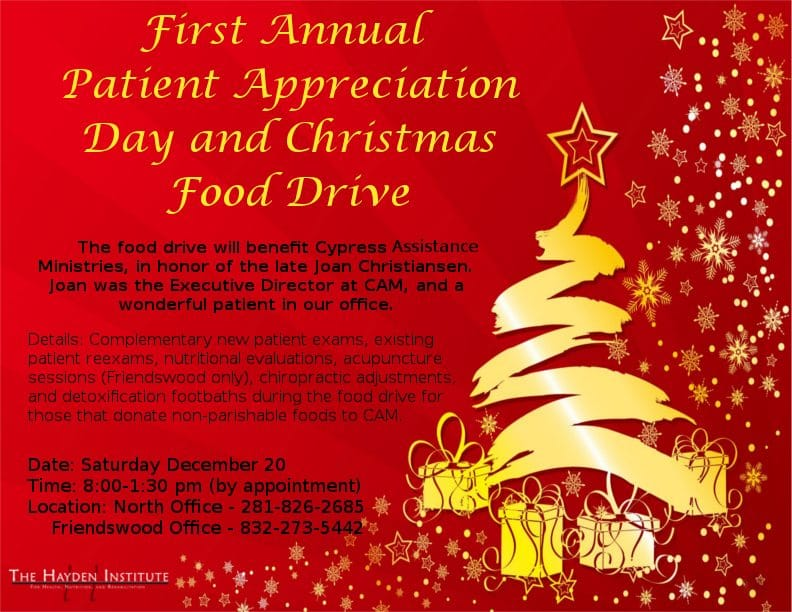 cypress assistance ministries food drive - Christmas Assistance 2014